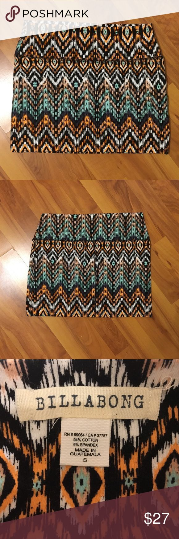Billabong Tight Mini Skirt NEVER BEEN WORN! Does not have tags attached, but it is new. This skirt is just elastic enough to be flattering on anyone! Can be worn causally, or dressed up for a formal occasion. Please comment with any questions you might have! Billabong Skirts