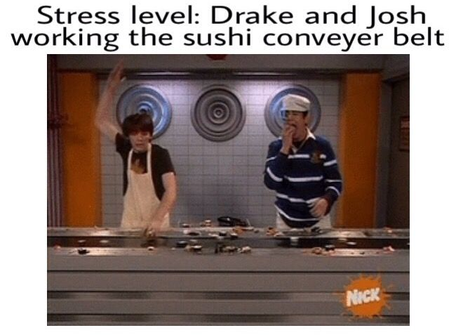 Stress level: Drake and Josh