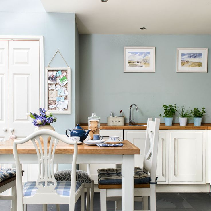 Blue Kitchen Cabinets, Kitchen Wall Colors, Duck Egg Blue Kitchen