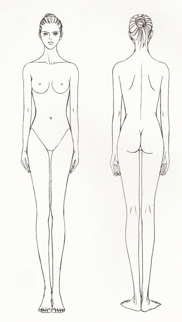 Fashion Drawing Template / Croquis