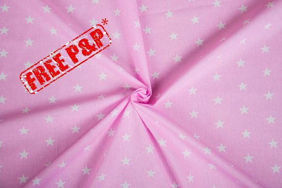 Cotton fabric, pink baby fabric, white stars pattern, room ... : quilting supplies wholesale - Adamdwight.com