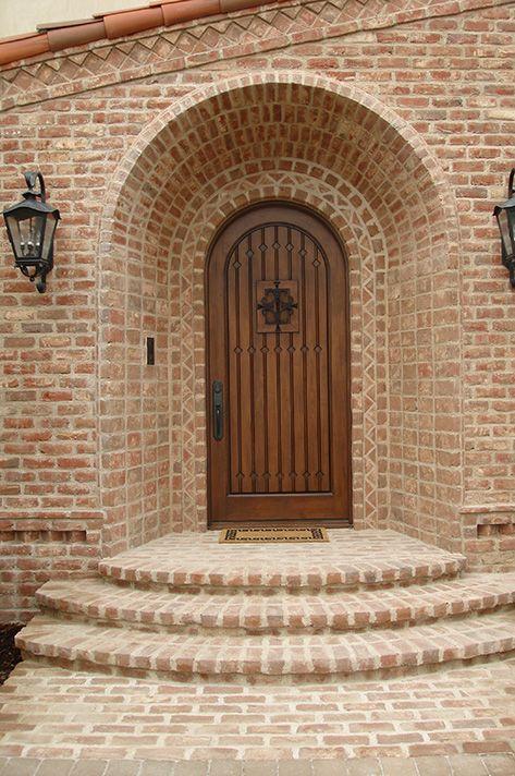 119 best glen gery brick homes images on pinterest brick for Mediterranean style front doors