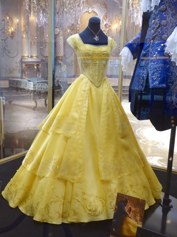 Emma Watson Beauty and the Beast Belle yellow gown