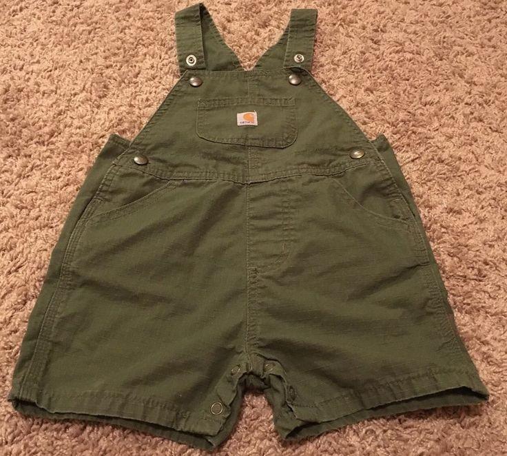 Carhartt Infant Boy 24 Month Short Bib Overalls Green   #Carhartt #Bibs #Overalls #Shorts #Fall #Autumn