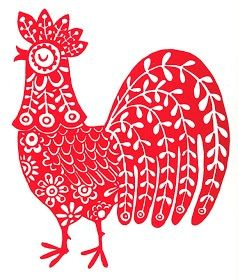 Rooster graphic would be cute on tea towels