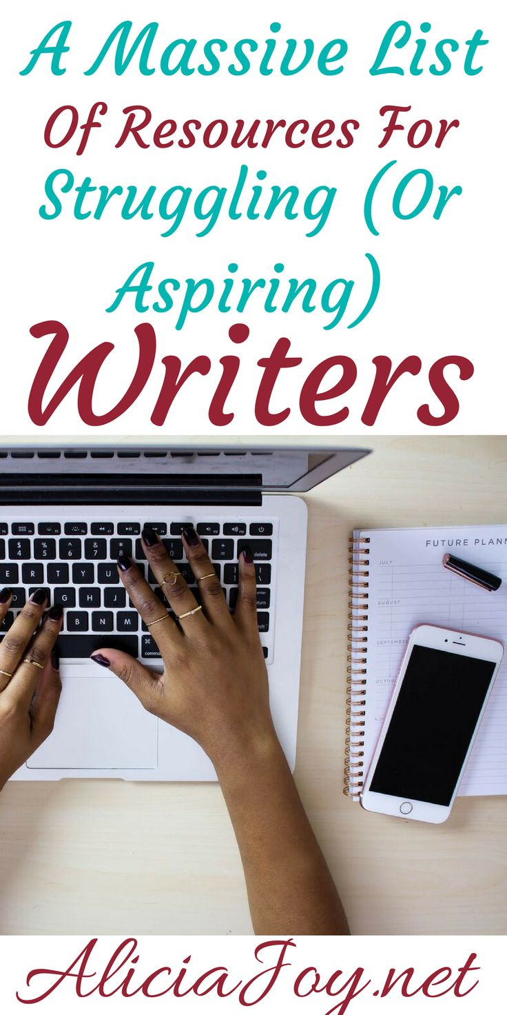 This is a massive list of resources for struggling (or aspiring) writers. I've shared all of my favorite writer's tips.