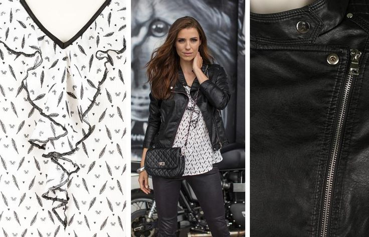 Look rock n'roll tout en simili cuir