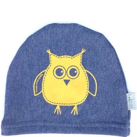 owl on heather blue Our fleece-lined bamboo jersey, graphic print hat is a family favorite amongst the House of Koopslie community.  It is the perfect accessory for everyday wear, underneath a sports helmet or for family photos.  Our graphic hats are made out of our favourite fleece-lined bamboo blend – 66% bamboo, 28% cotton, 6% spandex and 100% awesome.