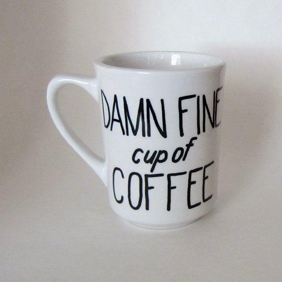 Twin Peaks Damn Fine Cup of Coffee Mug white by MoonriseWhims