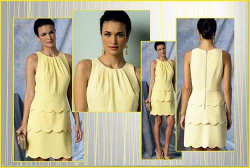 Летнее платье с фестонами 1