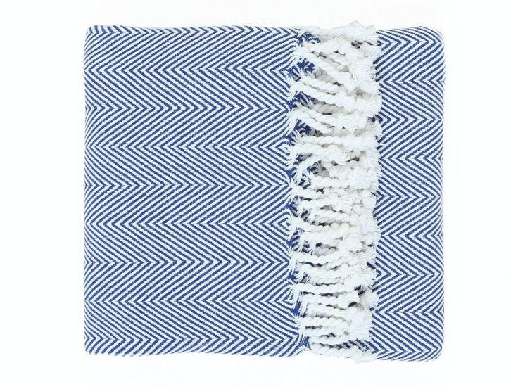 Fabio Blue Cotton Throw