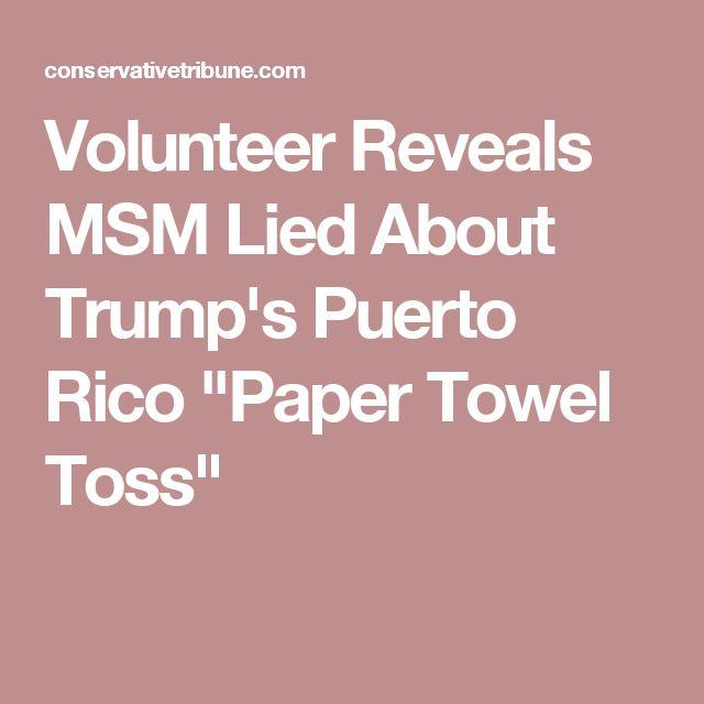 """Volunteer Reveals MSM Lied About Trump's Puerto Rico """"Paper Towel Toss"""""""