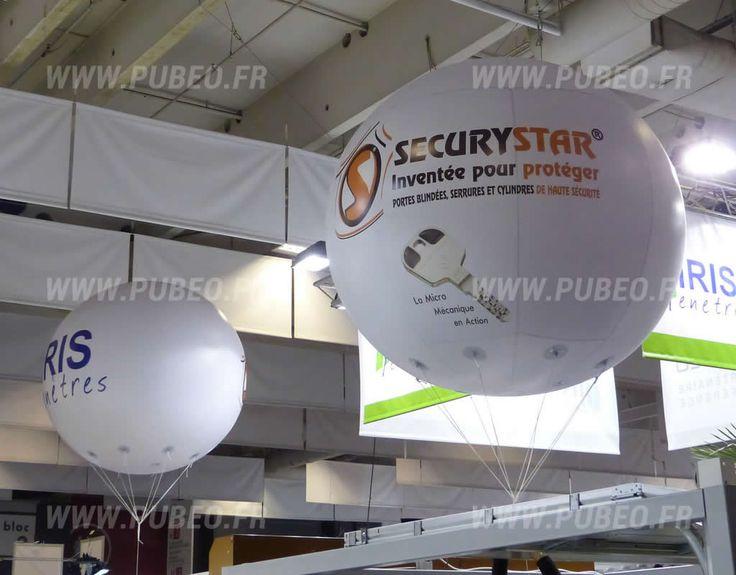 Ballons publicitaires Sécurystar sur la foire de Paris