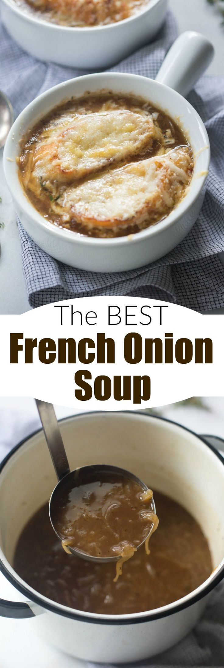 French Onion Soups on Pinterest | French onion, Classic french onion ...