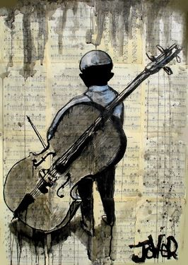 "boy and cello Loui Jover  [On my board ""Music - Painting  & Photos"". Irit Volgel]"