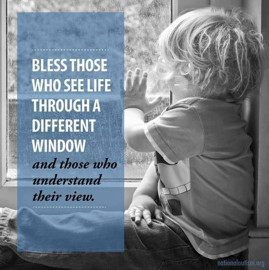 Bless those who see life through a different window and those who understand their view. <3