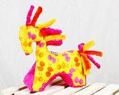 Grasping sensoriale dei giocattoli cavallo, Soft Baby Mascot, dentizione giocattoli, giocattoli, regalo neonato, bambino peluche, giallo, rosa