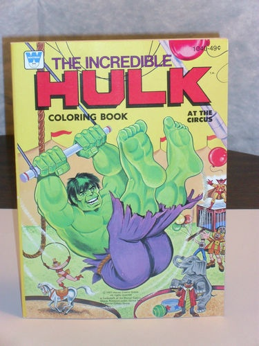 Vintage Incredible Hulk At The Circus Coloring Book By Whitman 1977 Unused