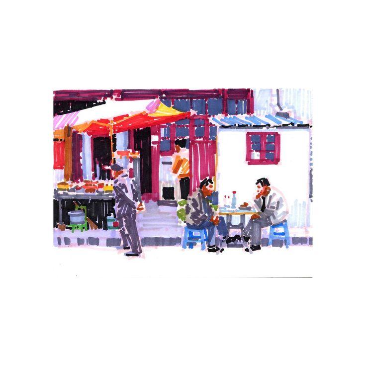 Olivier Morel - Shanghai 11 - achetez en ligne des oeuvres d'art originales à prix abordables en direct des ateliers d'artistes, sélectionnés par KAZoART et des experts du monde de l'art