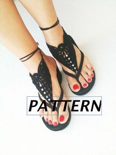 PDF crochet pattern,DIY tutorial, Barefoot Sandals, Nude shoes, Foot j