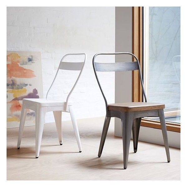 dining table steel chairs price west elm metal stainless set online garden and
