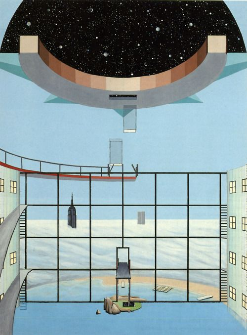 Rem Koolhaas, Zoe Zengelis, and Elia Zengelis, Hotel Sphinx, Planetarium with Swimming Pool 1975