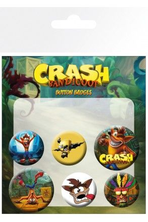 Crash Bandicoot Mix Badge Pack