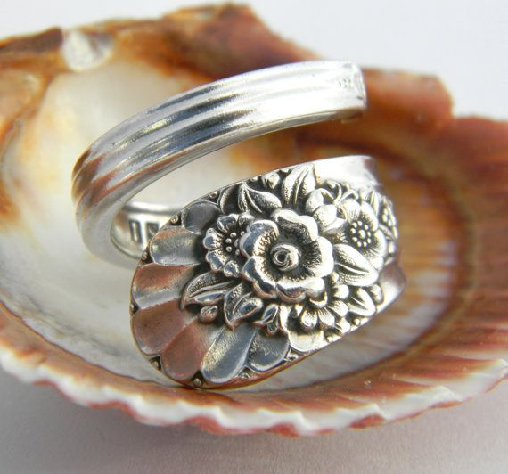 Amazing Antique Silver Spoon Ring $18.00