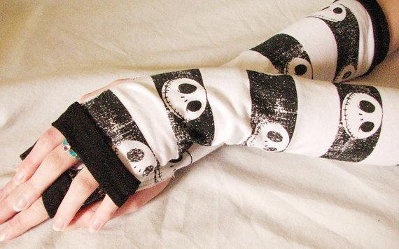 Jack Skellington Skull Arm Warmers