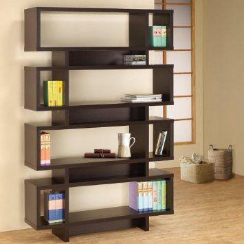 Amazon.com: Contemporary Open Bookcase with Rectangular Shelves: Patio, Lawn & Garden