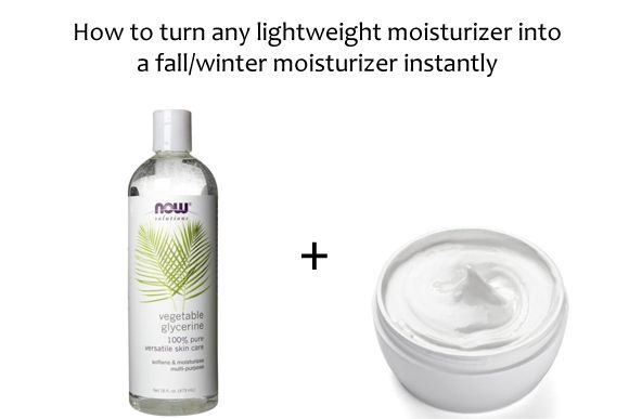 How to turn any lightweight moisturizer into a winter moisturizer instantly!