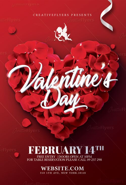 Check Out Valentines Day Flyer Template Graphics Pinterest