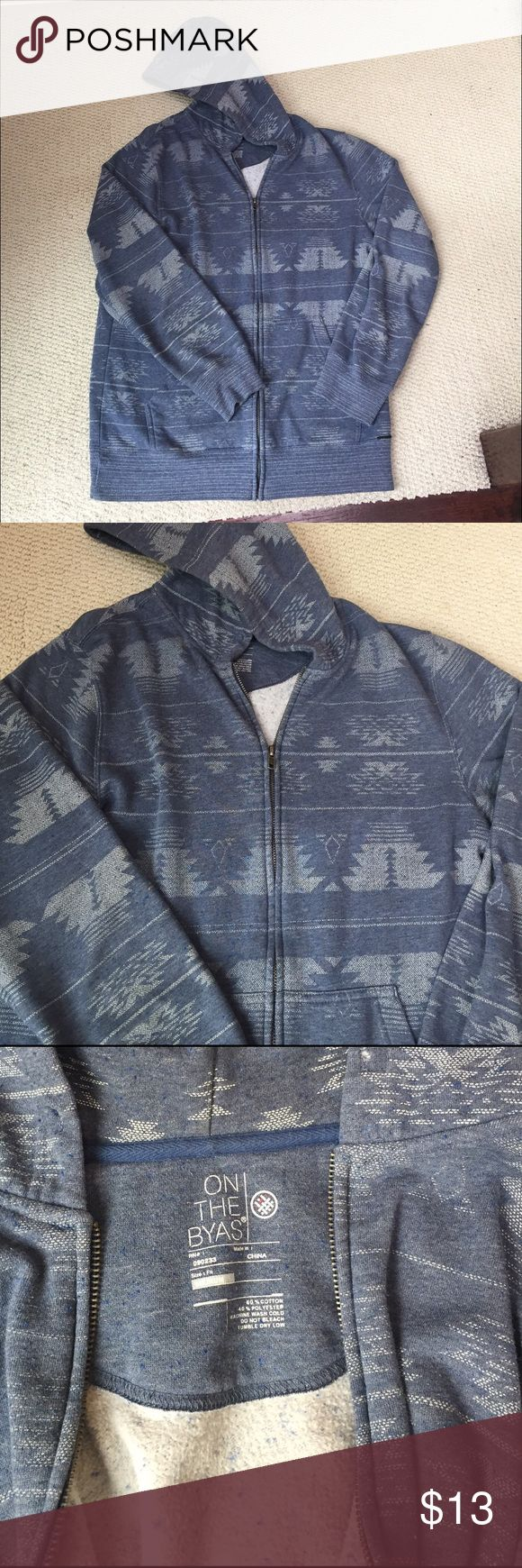 Men's On The Byas zip up hoodie Gently used zip up hoodie. Size medium. Aztec design. No strings for the hood. on the byas Sweaters Zip Up
