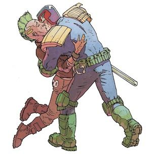 Judge Dredd comic writers say that he 'could be gay'