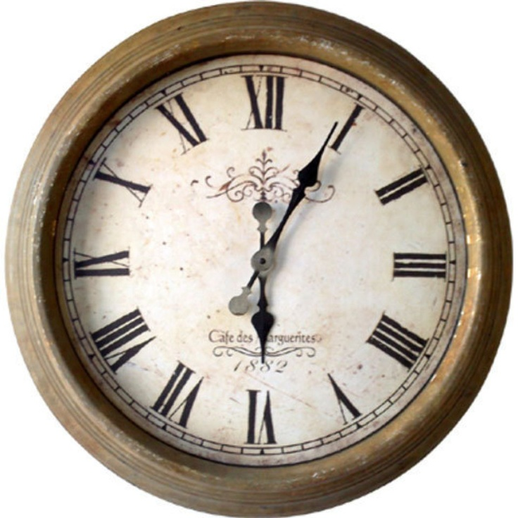 Decorators Choice Early American Clock In Antique Yellow - Always liked this look