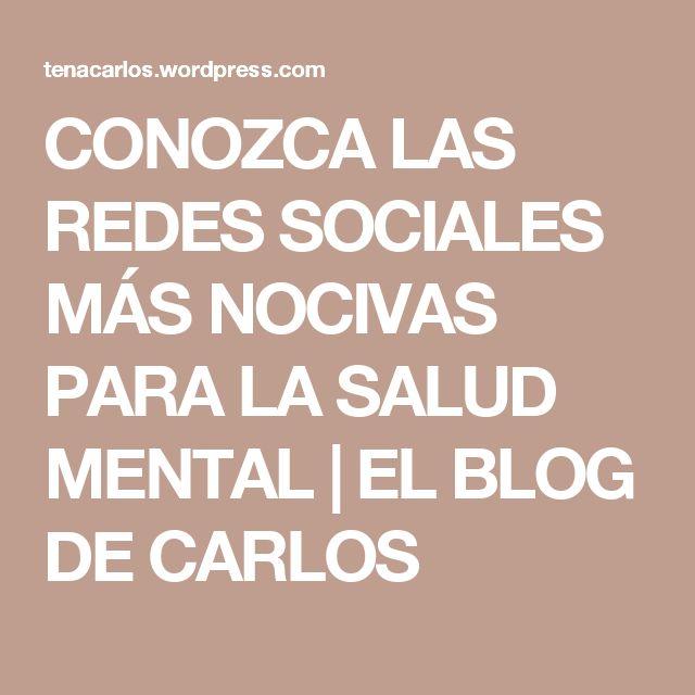 Resultado de imagen de CONOZCA LAS REDES SOCIALES MÁS NOCIVAS PARA LA SALUD MENTAL