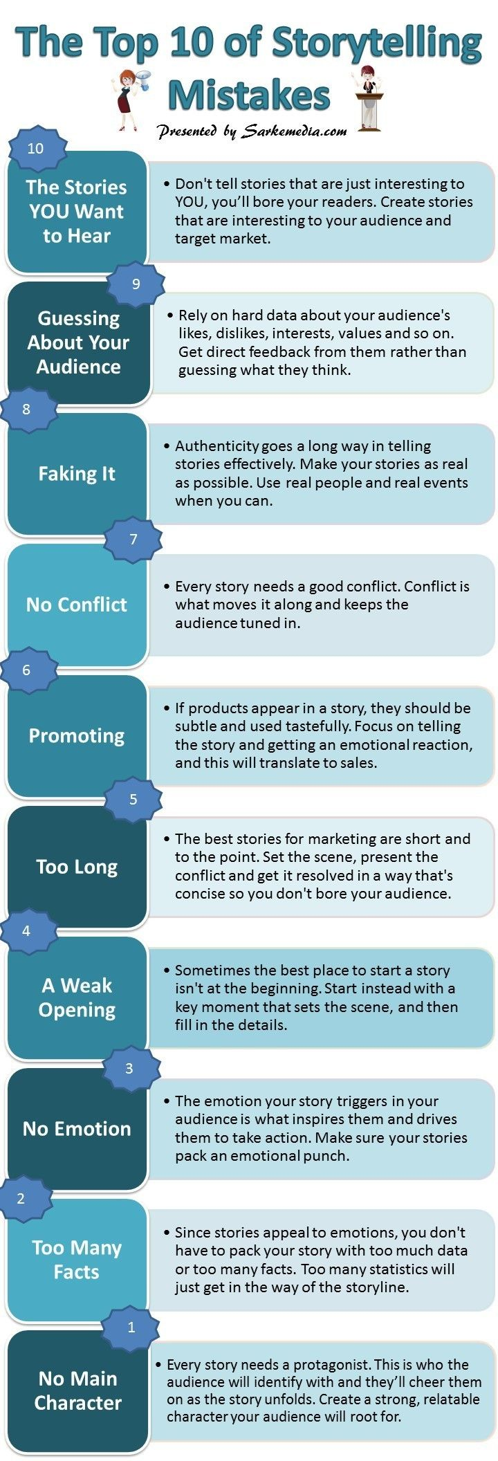 Top 10 #Storytelling Mistakes to Avoid When Blogging