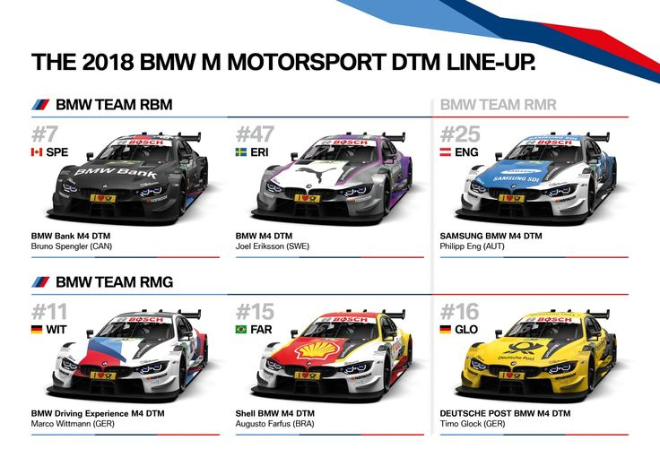 BMW M4 DTM designs have been confirmed for the 2018 season