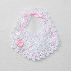 Crochet Baby Christening Bib