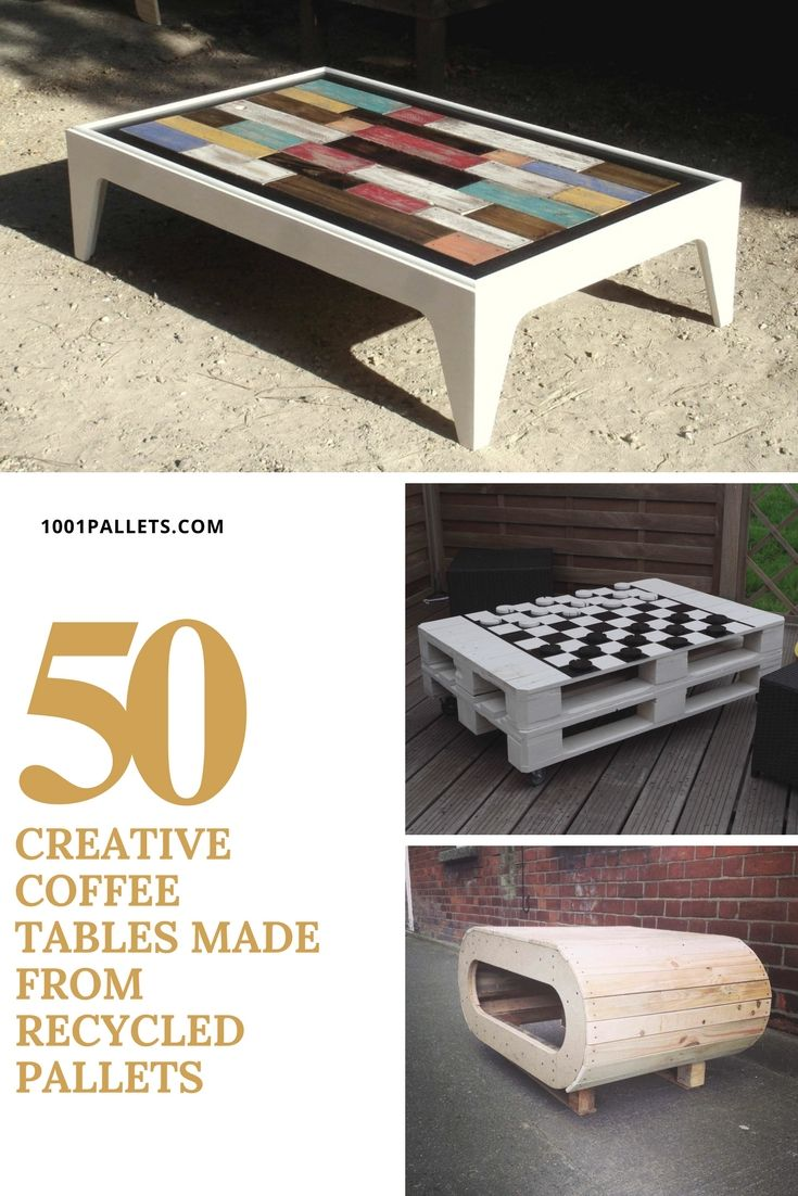Top 50 Creative Coffee Tables Made From