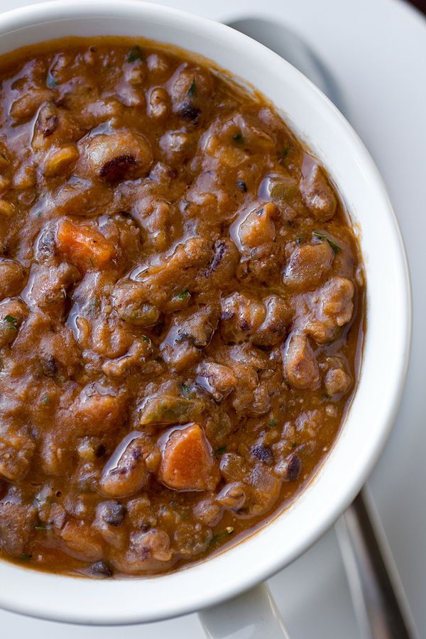 Greek-Style, Black-eyed Pea Stew with Ground Beef, Spices and Oregano