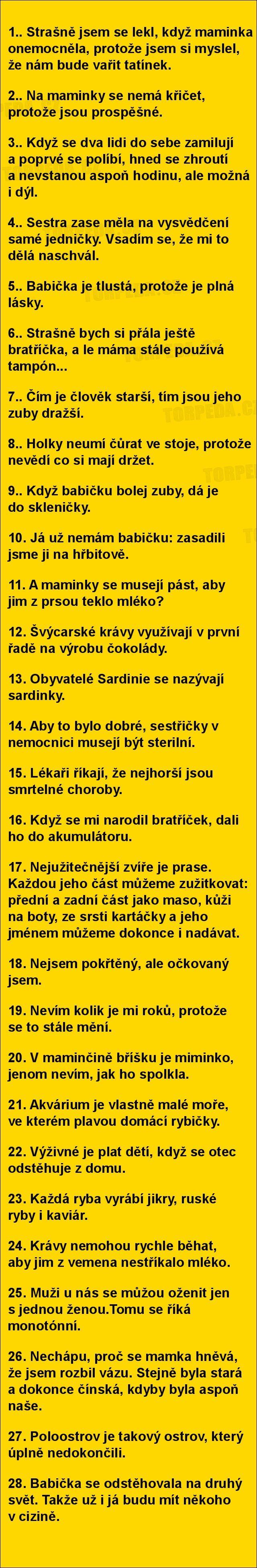 Výroky dětí jsou lepší než vtipy... | torpeda.cz - vtipné obrázky, vtipy a videa