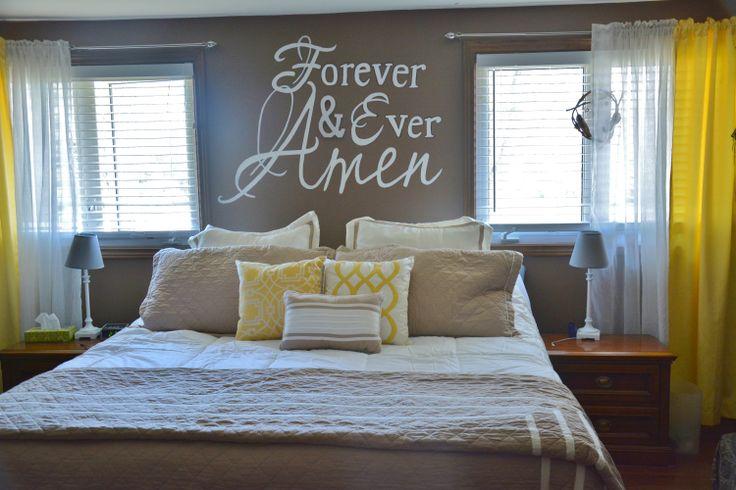 Master Bedroom Chocolate Brown Walls Yellow Metallic