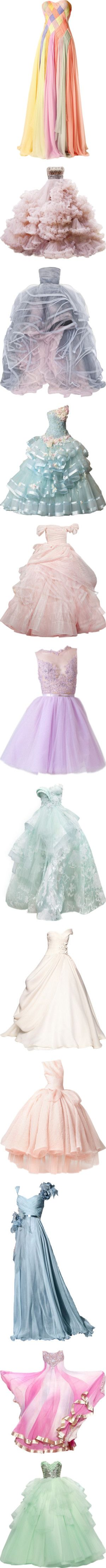 candy coated couture by missherjh on Polyvore featuring women's fashion, dresses, gowns, long dresses, vestidos, couture evening gowns, couture evening dresses, couture gowns, couture dresses and red carpet long dresses