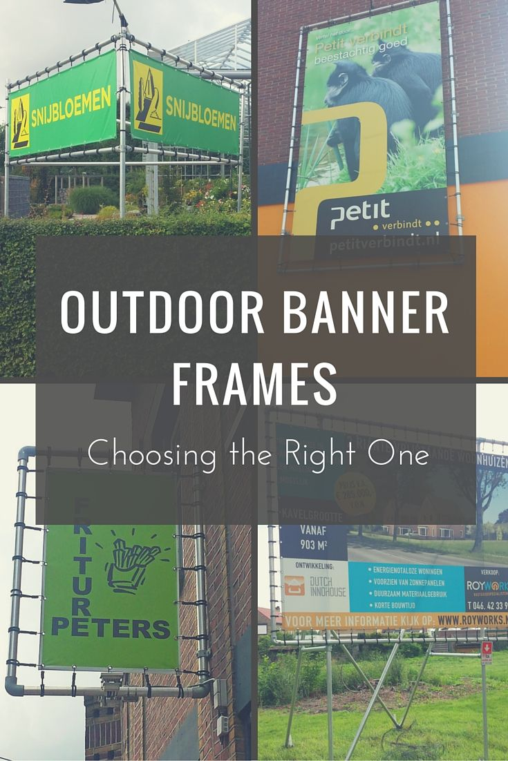 outdoor banner frames choosing the right one keeklamp bannerframe