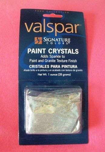 Sparkly walls!?! Stir a packet or two into your paint and transform your walls with a hint of sparkle. Love, love this product! Available at Lowes in gold or silver.    Ooooooh.