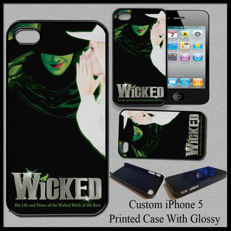 New Hot Design Custom Wicked Hard Cover Case For iPhone 5 Nice Fit For Gift