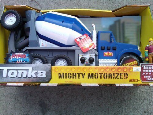 176 best images about toys games vehicles remote for Tonka mighty motorized cement mixer