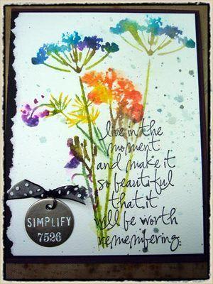 Tim Holtz - brushless watercolor - september technique challenge…