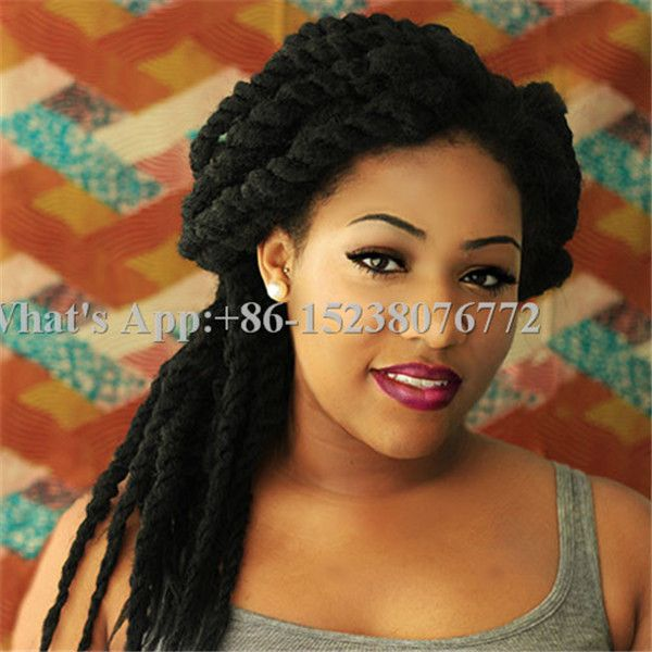 Crochet Braids Hair Loss : twist crochet braid hair extensions afro kinky synthetic braiding hair ...